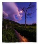 Moonlight Meadow Fleece Blanket