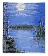Moonlight Mist Fleece Blanket