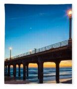 Moonlight Pier Fleece Blanket