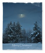 Moonlight Snow Fleece Blanket