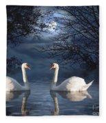 Moonlight Swim Fleece Blanket
