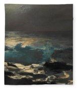 Moonlight. Wood Island Light Fleece Blanket