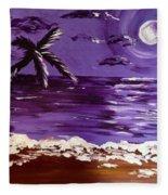 Moonlit Beach Fleece Blanket