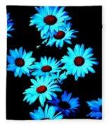 Moonlit Daisies Fleece Blanket