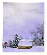 Moonlit Farm Fleece Blanket
