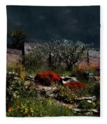 Moonlit Hillside In Africa Fleece Blanket