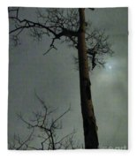 Moonlit Marks On A Ground Glass Canvas  Fleece Blanket