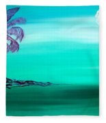 Moonlit Palm Fleece Blanket