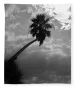 Moonlit Palm Fleece Blanket