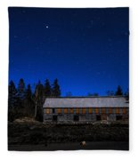 Moonlit Starscape At The Old Smokehouse Fleece Blanket