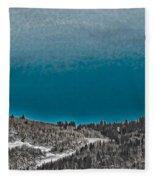 Moonrise Over The Mountain Fleece Blanket