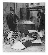 Moonshine Still Prohibition 1922 Fleece Blanket