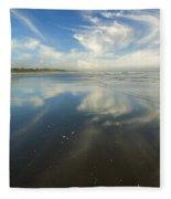 Moonstone Beach Reflections Fleece Blanket