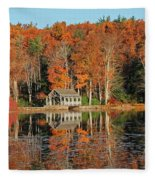 Moore State Park Autumn I Fleece Blanket