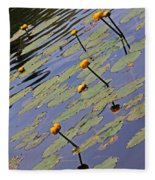Moore State Park Lily Pads 1 Fleece Blanket