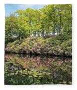 Moore State Park Water Reflections Fleece Blanket