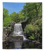 Moore State Park Waterfall 3 Fleece Blanket
