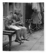 Boys Reading Comics In Moore Street Dublin Fleece Blanket