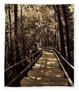 Moores Creek Battlefield Nc Swamp Walk  Fleece Blanket