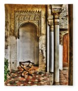 Moorish Chair And Alcove At The Alhambra Fleece Blanket