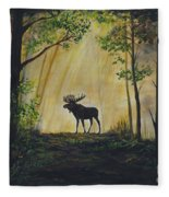 Moose Magnificent Fleece Blanket