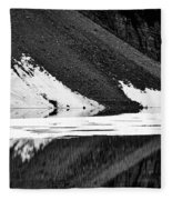 Moraine Lake Abstract - Black And White #2 Fleece Blanket