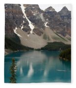 Moraine Lake - Alberta - Canada Fleece Blanket