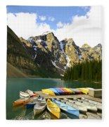 Moraine Lake Fleece Blanket