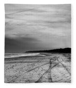 More Beach Tracks Fleece Blanket