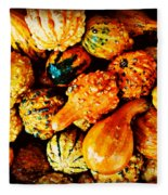 More Beautiful Gourds - Heralds Of Fall Fleece Blanket