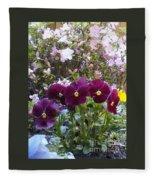 More Flowers Fleece Blanket