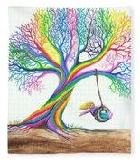 More Rainbow Tree Dreams Fleece Blanket