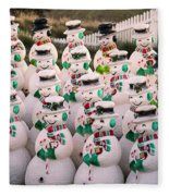 More Snowmen Fleece Blanket