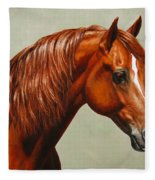 Morgan Horse - Flame Fleece Blanket