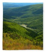 Moormans River Overlook In Spring Fleece Blanket
