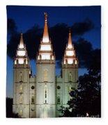 Mormon Temple Lds Utah Fleece Blanket