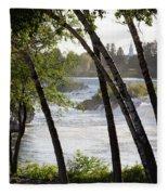 Morning At Idaho Falls Fleece Blanket