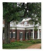 Morning At Monticello Fleece Blanket