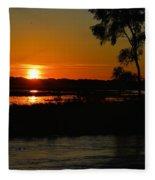 Morning At The Marsh 2 Fleece Blanket