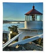 Morning At Trinidad Light Fleece Blanket