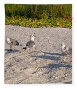 Morning Beach Cleaning Crew Fleece Blanket