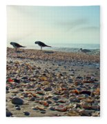 Morning Beach Preen Fleece Blanket