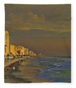 Morning Beach Walk Fleece Blanket
