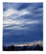 Morning Blue Fleece Blanket