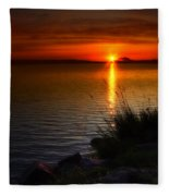 Morning By The Shore Fleece Blanket