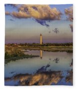 Morning Clouds At Cape May Light Fleece Blanket