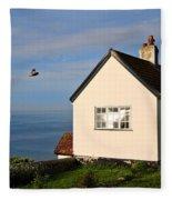 Morning Cottage At Lyme Regis Fleece Blanket