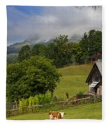 Morning Cow Fleece Blanket