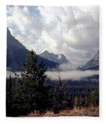 Morning East Glacier Park Fleece Blanket