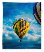 Morning Flight Hot Air Balloons Fleece Blanket
